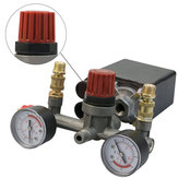 Air Compressor Pump Pressure Switch Control + Valve Gauges Regulator