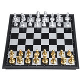 30x30cm Wooden Chess Set Folding Chess Board Standard Family Game