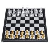 30x30 cm Ahşap Satranç Set Katlanır Satranç Tahtası Standart Aile Oyunu