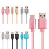 2.1A Pleciony kabel do transmisji danych typu C 1m dla OnePlus 5 Xiaomi 6 Samsung Note 8 S8