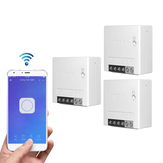 3pcs SONOFF MiniR2 Interrupteur intelligent bidirectionnel 10A AC100-240V Fonctionne avec Amazon Alexa Google Home Assistant Nest prend en charge le mode bricolage Permet à Flash le micrologiciel