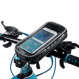 Waterproof Touch Screen Phone Pouch Bag Motorcycle Cycling Bike Handlebar Tube Mount Rotatable