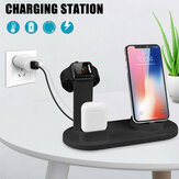 Station de charge Bakeey 3 en 1 10W iPhone / Micro / Type-C Station de charge pour iPhone 12 11Pro Max XS Max MI10 POCO X3