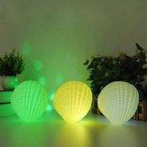 Creative 3W Colorful Shell LED Night Light Recargable inalámbrico Bluetooth Altavoz Música Decoración para el hogar