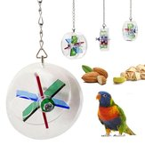Wheel Food Systems Pet Bird Toys Parrot Hanging Foraging Playing Treat Feeder