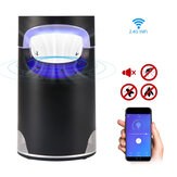 Intelligent Wifi Photocatalyst Mosquito Killer Lamp Voice Control USB Charging Insect Repellent Mosquito Killer LED Light Trap for Indoor Bedroom Office
