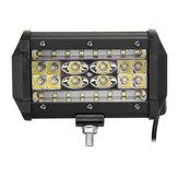 Lampu Kerja LED Bar Spot Banjir Lampu Kabut Mengemudi 6000K Putih Untuk Jeep Off-Road Pickup Wagon UTV