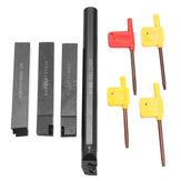 Conjunto de suporte de ferramenta de torneamento de torno de 4 peças 16mm barra de mandrilar indexada para inserção CCMT09T3