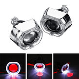 2.5 Inch Angel & Devil Demon Eye LED Faros delanteros HID Bi-Xenon Proyector Lente Kit H1 LHD / RHD