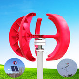 12V / 24V 100W Red Lantern Style Vertical Wind Turbine Wind Power Generator