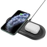 BOROFON BQ7 2 in 1 QI Wireless Charger for iPhone 12 Pro Max POCO X3 NFC for Samsung Galaxy Note S20 ultra for Mi 10