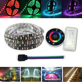 5M SMD5050 RGB Waterproof LED Flexible Strip Light Kit + RF Controller + Connector Cable Wire 12V