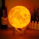18 cm Dokunmatik Sensör 3D Ay Masa Lamba USB Renk Değiştirme LED Luna Gece Lambası Çocuk Hediye