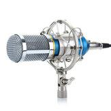 Металлический шумоподавитель HD Звуковой ударопрочный Live Broadcast Recording 3,5-мм конденсатор Микрофон