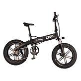 [DIRECTO UE] ADO Z20C 10AH 36V 250W Bicicleta eléctrica plegable 20 pulgadas Neumático grueso para nieve 25 km / h Velocidad máxima 80 km Alcance de kilometraje Transmisión de 6 velocidades Smart Pantalla Freno de disco doble