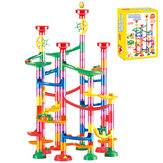 105/109Pcs DIY Construction Ball Building Blocks 3D Stereo Maze Track Race Run for Kids Gift