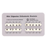 10 Packs Dental Orthodontic Edgewise Metal Brackets Mini Edgewise 0.022 Slot