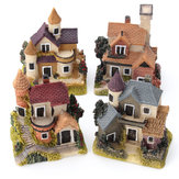 Dollhouse Miniature Kit Bahçe Dollhouse Mikro Manzara DIY Mini Kale Model Oyuncak Ev Dekorasyon Hediyesi