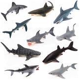 Animal realista modelo animal marinho animal sólido tubarão baleia série ciência educação enigma brinquedos