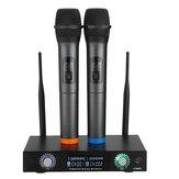 2 canales Pro Sistema inalámbrico Micrófono UHF Micrófonos de mano dobles Karaoke Inicio