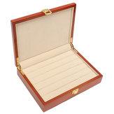 Vintage grote houten ring Earring sieraden Display Box Case Organizer 24X18X5.5cm