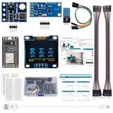 AOQDQDQD ESP8266 Kit de estação meteorológica com luz de pressão atmosférica de temperatura, umidade Sensor 0,96 Display para Arduino IDE IoT Starter