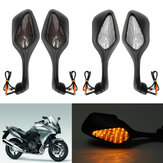 LED Motorcycle Turn Signal Rear View Mirrors For Honda CBR1000RR 1000RR 2008-2013