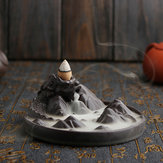 Backflow Incense Cone Burner Holder Lying Dragon Mountain Smoke Backflow Fragrance Fragrant Censer