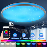 30W WiFi LED Ceiling ضوء Round Intelligent ضوءs Colorful Wireless Wall Lamp Home يدعم Alexa Google Home