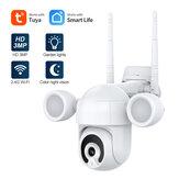 SHIWOJIA 3MP Smart IP Camera Wireless Wifi Lâmpada dupla Relâmpago Visão noturna Voz bidirecional Dome Câmera de vigilância à prova d'água de segurança