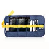 Deli 58125 27 adet kroki kalem seti çizim kalemler Parçalar Kit acemi sabit sanat malzemeleri Okul öğrenciler için