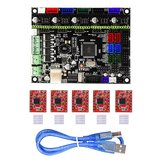 MKS-GEN L V1.0 Integrated Controller Mainboard + 5pcs A4988 Stepper Motor Driver Compatible Ramps1.4/Mega2560 R3 For 3D Printer