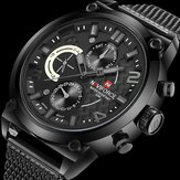 NAVIFORCE 9068 Full Steel Strap Waterproof Quartz Watches