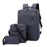 Laptop 3 em 1 Bolsa para 15,6 polegadas com carregador USB mochila para computador de viagem casual ombro de negócios Bolsa mochila escolar