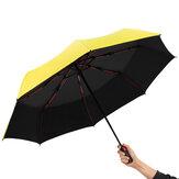 Parapluie d'affaires automatique trois pliant mâle femelle Parasol parapluie pluie coupe-vent de luxe parapluie pour homme femmes cadeau