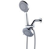 High Pressure 5 Water Discharge Modes 3 Way Dual Shower Head Combo with Extra Long Luxury Setting