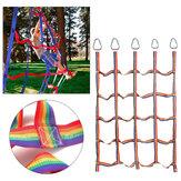 145x185cm Rainbow Nylon Siatka wspinaczkowa dla dzieci Zestawy do zabawy na świeżym powietrzu Trening sportowy