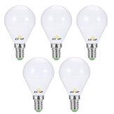 EXUP 5Pcs G45 E14 5W 450LM LED Globe Bulb AC220-240V