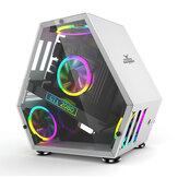 Sahara Monster Computer Gaming Case M-ATX Desktop Mini Speciaal gevormd Chassisspel Concurrerend Glas Side Through Ondersteuning M-ATX / ITX Moederbord
