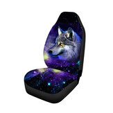 Universal Car Seat Cover Front Seat Back Head Rest Protector Van Truck WolfPrint