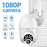 Guudgo 1080P 10 LED Upgraded Four-antenna HD Outdoor PTZ IP Camera Two Way Audio Voice Alarm Wifi Camera Auto Waterproof Night Vision  Surveillance