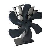 6 lapátos kandallóventilátor tűzhelyventilátor fűtött ventilátoros, fűtéssel működő Eco-ventilátor