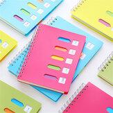 Heeton A5 cahier à bobine Colorful couverture en PVC bobine de fer 120 pages A5 cahier étudiant écrivant des notes de croquis prenant un livre