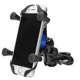 4-6インチX型電話GPSアルミニウム合金ホルダーハンドルバーリアビューミラーE-スクーターオートバイバイク