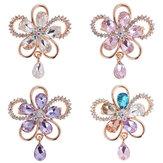 Elegante flor de cristal broche Colorful Accesorios de ropa de joyería bufanda para ella