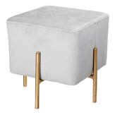 Velvet Cubic Stool Fabric Shoe Bench Seat Stool Modern Chair Ottomans Sofa Footstool Home Doorway Clothing Store Furniture Decoration