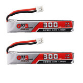 2個Gaoneng GNB 3.8V 300mAh 30C 1S LipoバッテリーPH2.0 Happymodel Mobula7用プラグHappymodel Mobula6 EachineベータFPV