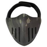 ACTION UNION MK036 TPU Tactical Mask Outdoor Hunting Cycling Sports Masks With Head Cover-Camouflage
