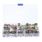 128Pcs Rivnut Rivet Nut Kit Round Head M3 M4 M5 M6 M8 M10 M12 Kit Set ABS Case