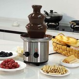 HCS XW-001A-2 Stainless Steel 220V 170W Chocolate Fountain Machine 3 Layers Double Buttons Waterfall Blender